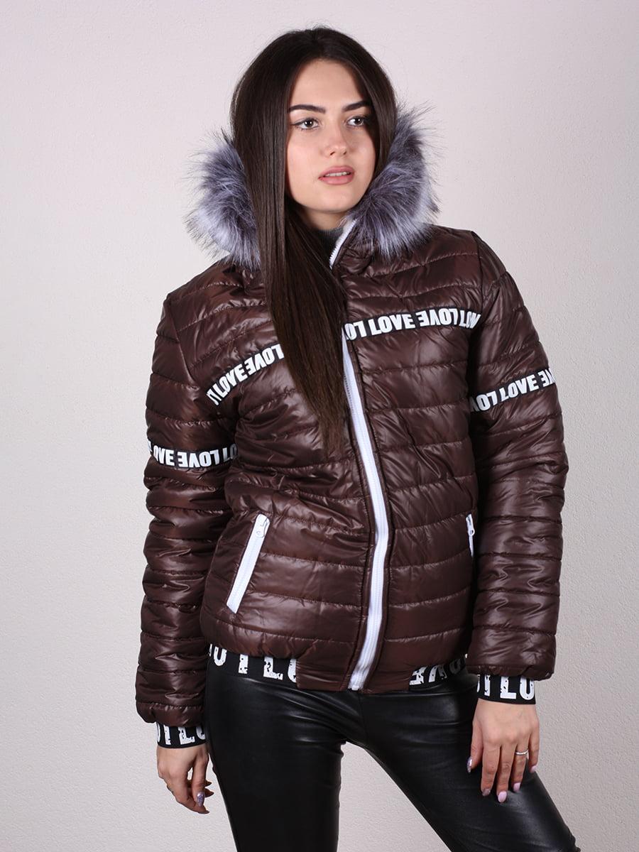 Куртка шоколадного цвета | 4922468 | фото 5