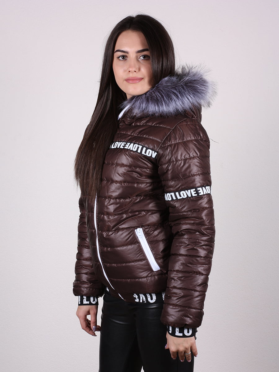 Куртка шоколадного цвета | 4922468 | фото 7