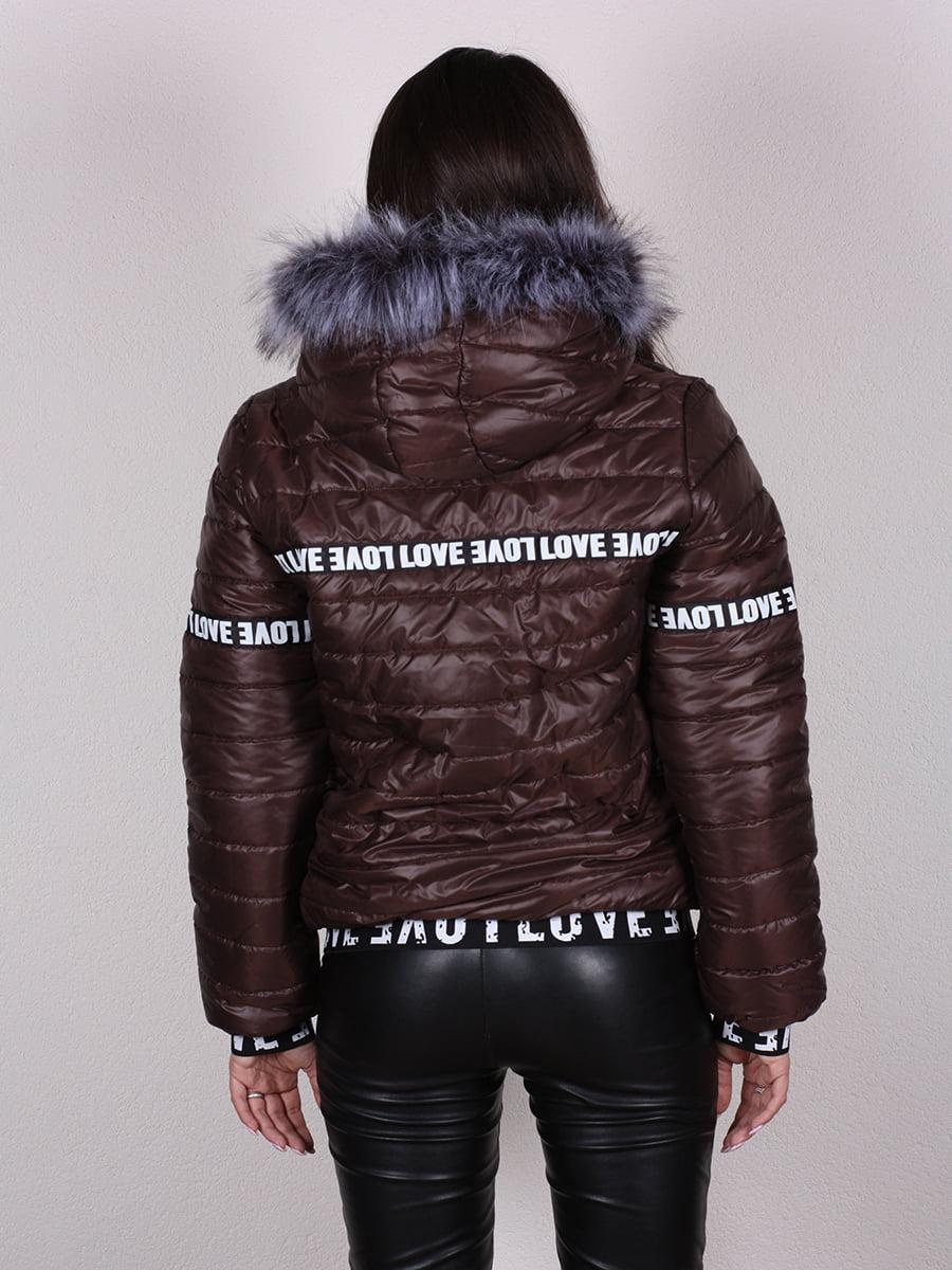 Куртка шоколадного цвета | 4922468 | фото 8