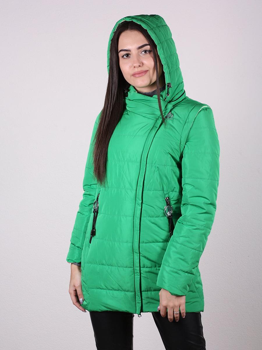 Куртка бежево-серая | 4922483 | фото 4