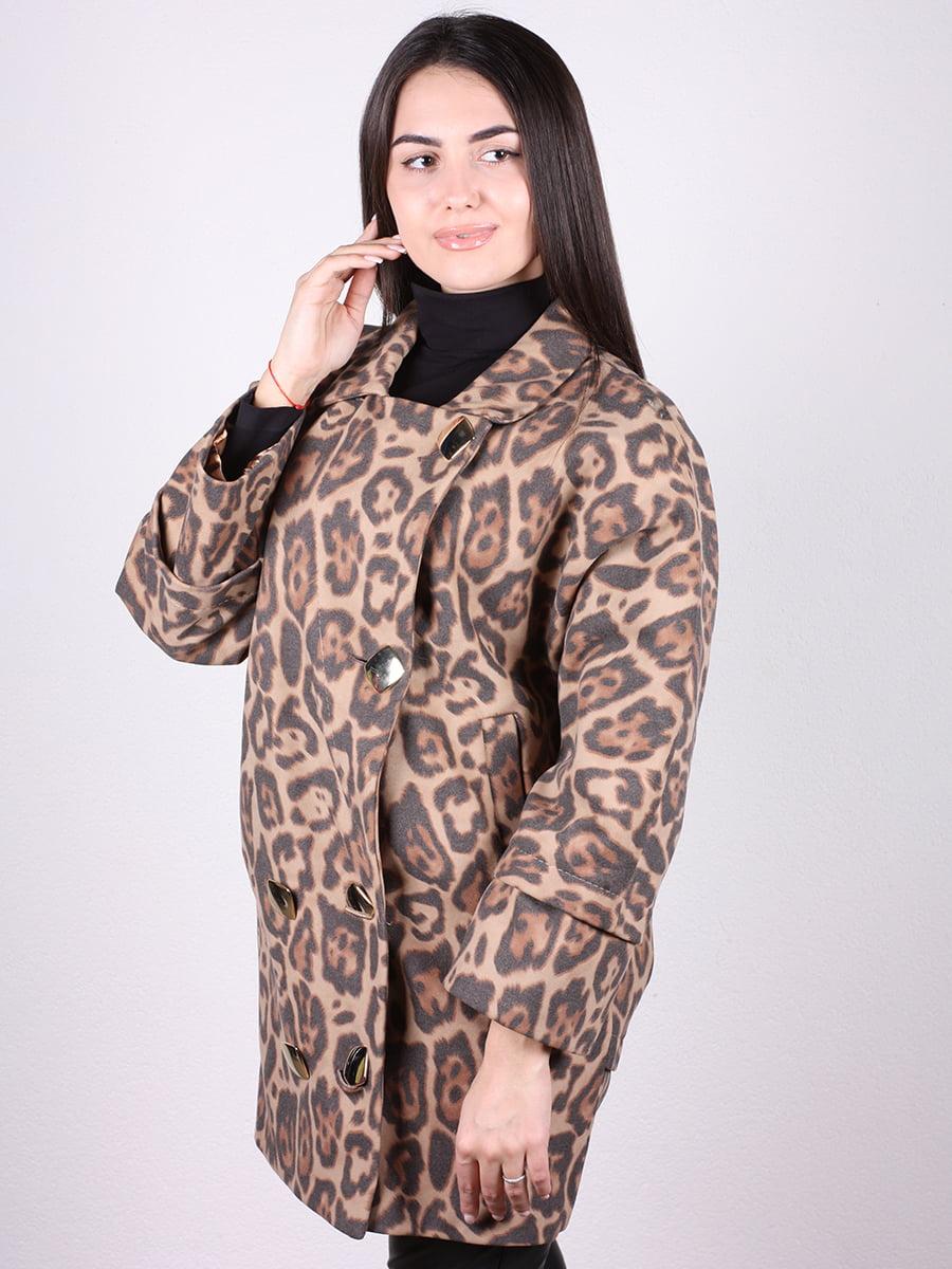 Пальто анималистической расцветки | 4958431 | фото 2