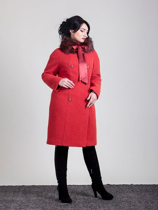 Пальто терракотовое | 4977380