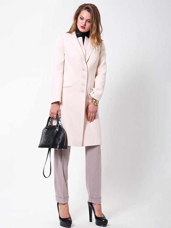 Пальто молочного кольору | 4977494