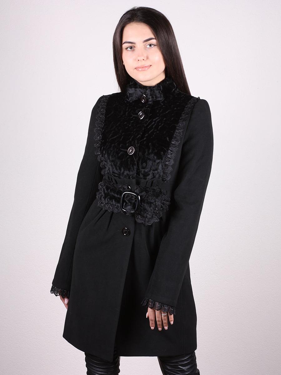 Пальто черное   4906683