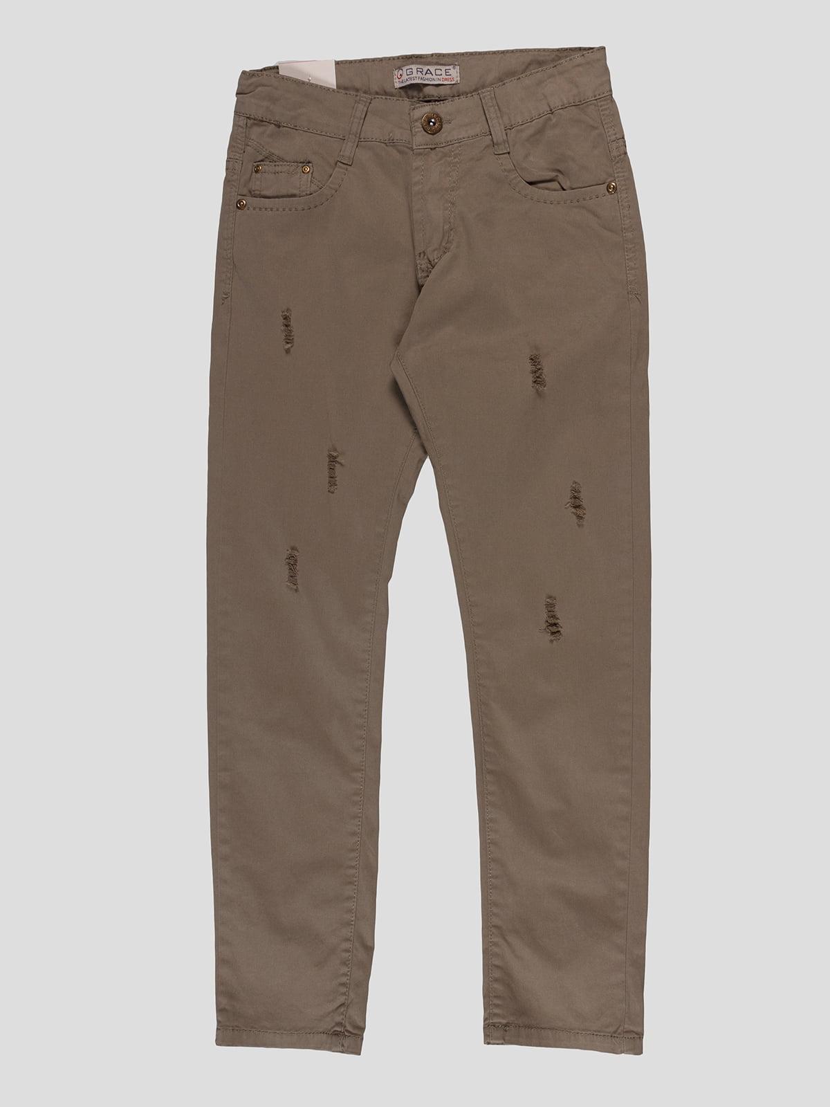 Штани кольору хакі | 4921633