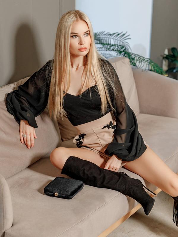 Блуза черная   4978632