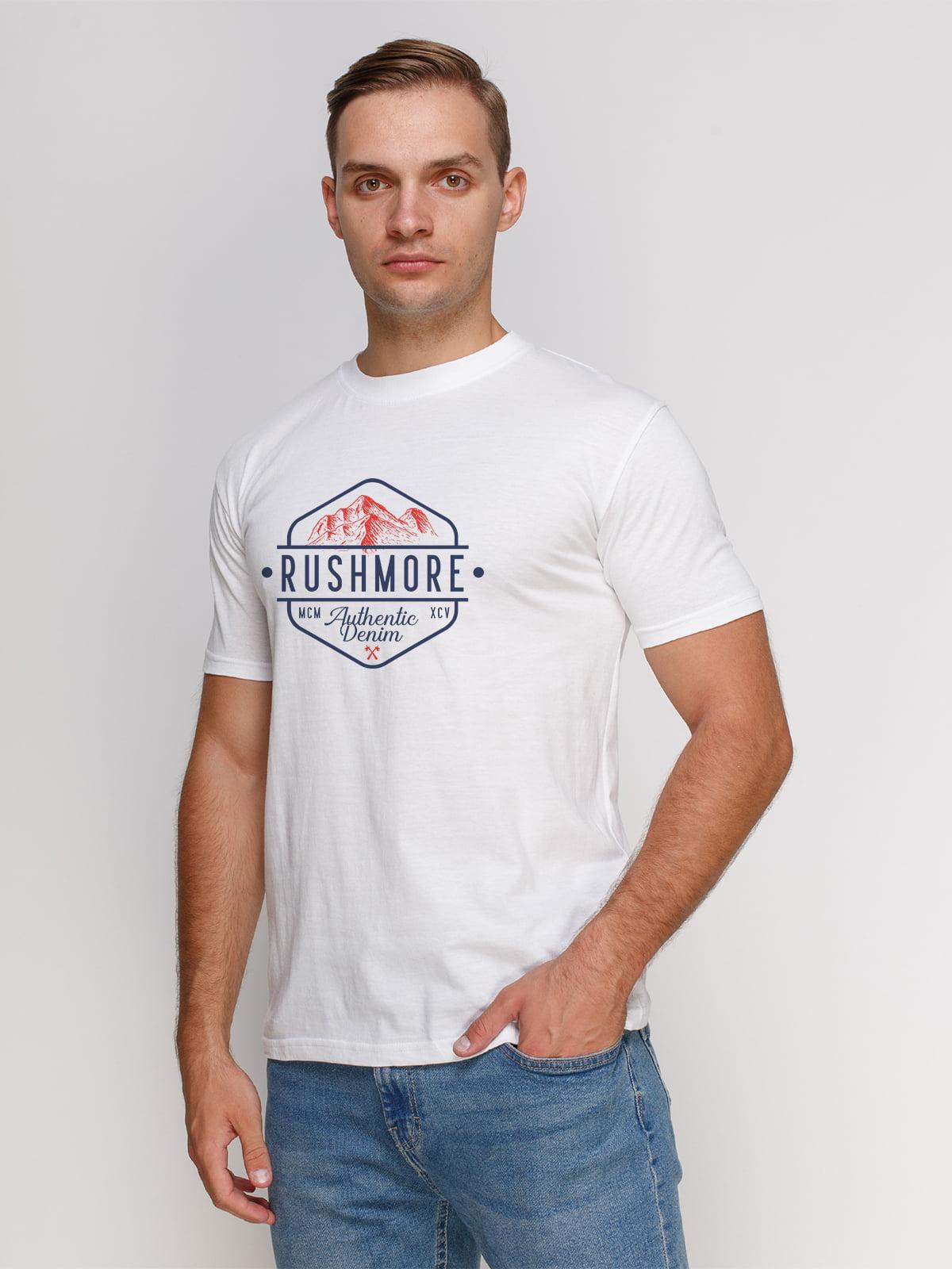 Футболка белая с принтом | 4978744