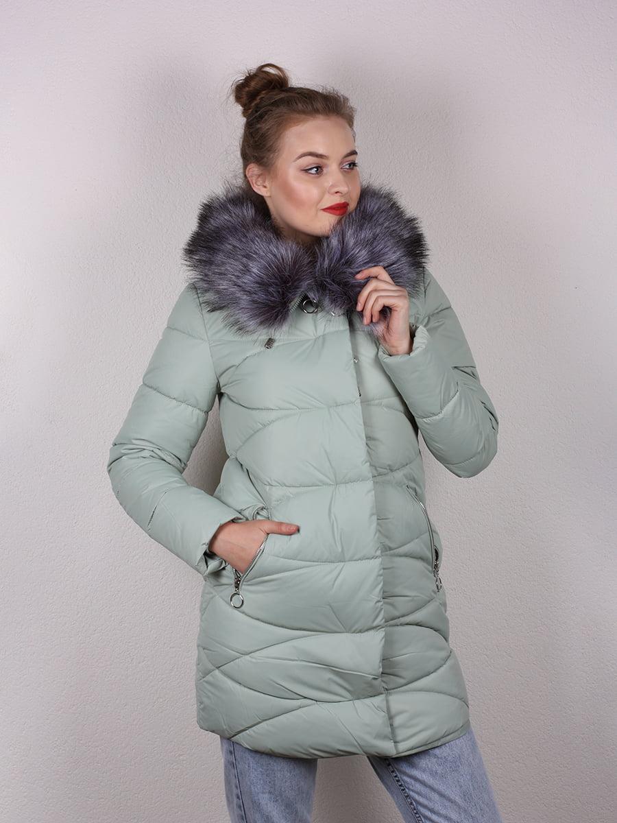 Пальто мятного цвета   4959810