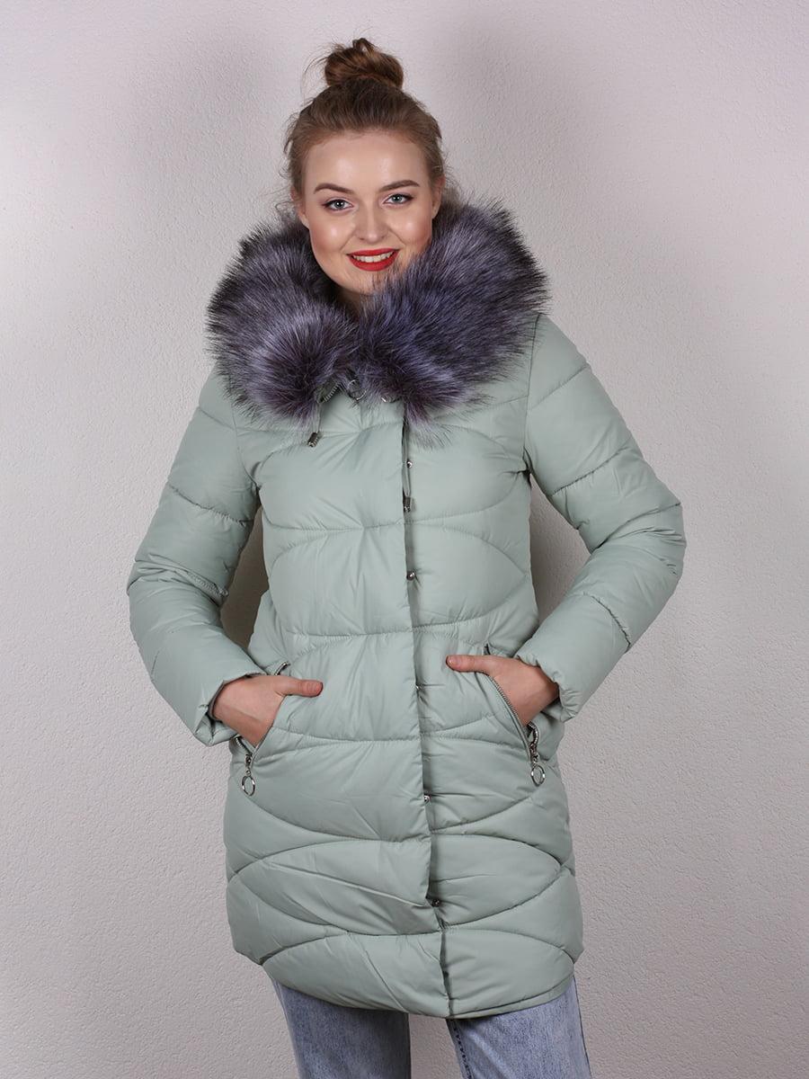 Пальто мятного цвета   4959810   фото 3