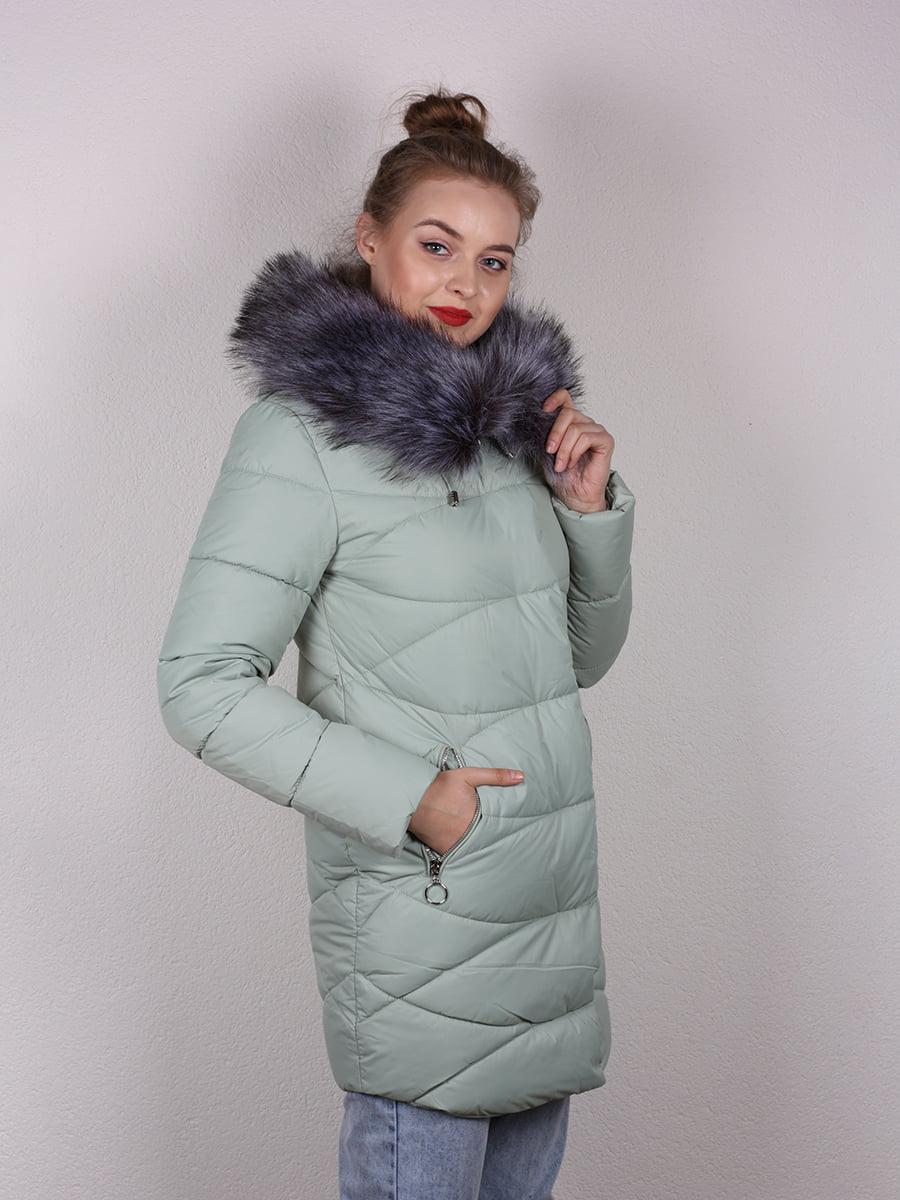 Пальто мятного цвета   4959810   фото 4