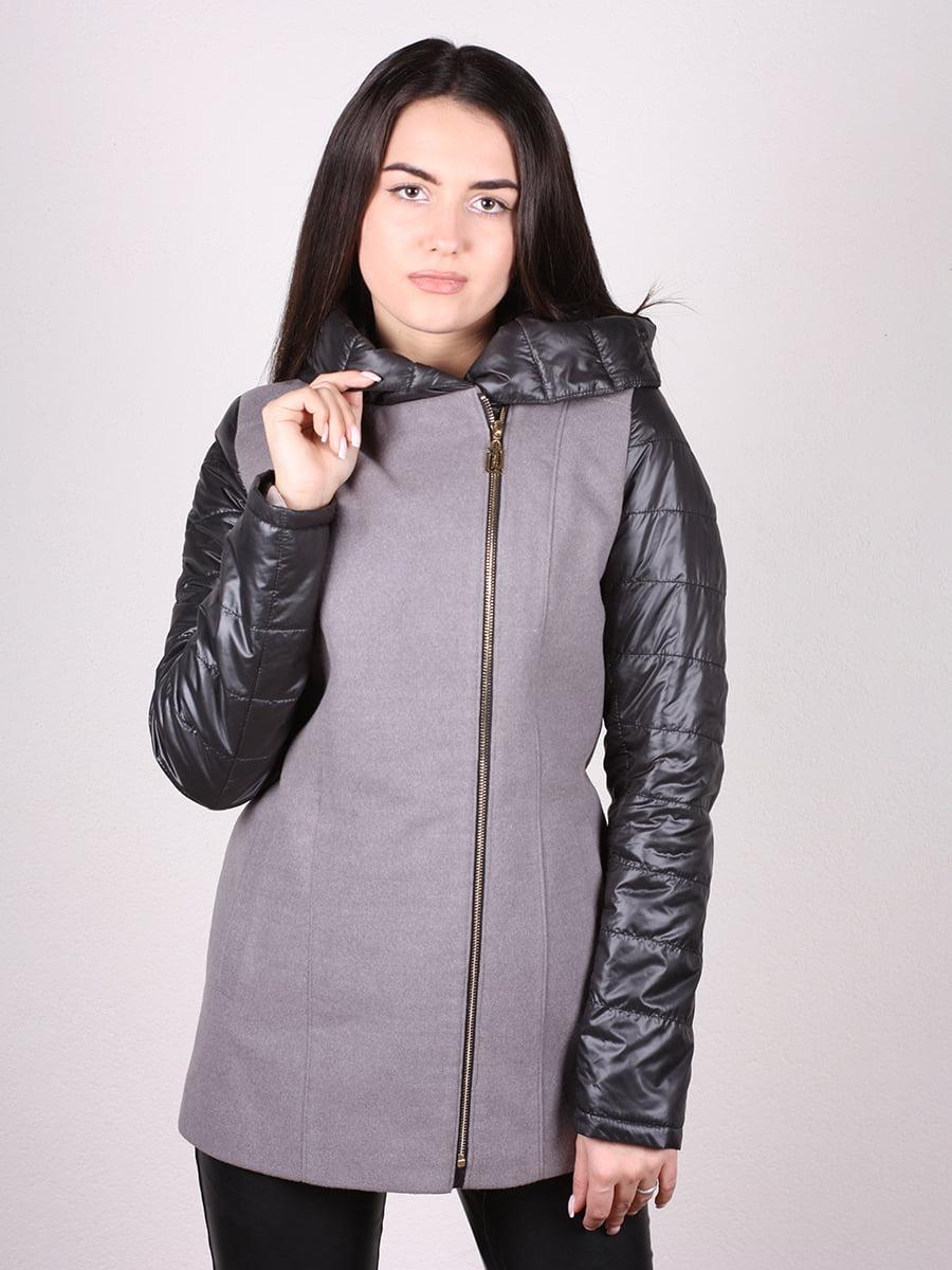 Пальто серо-черное | 4977692