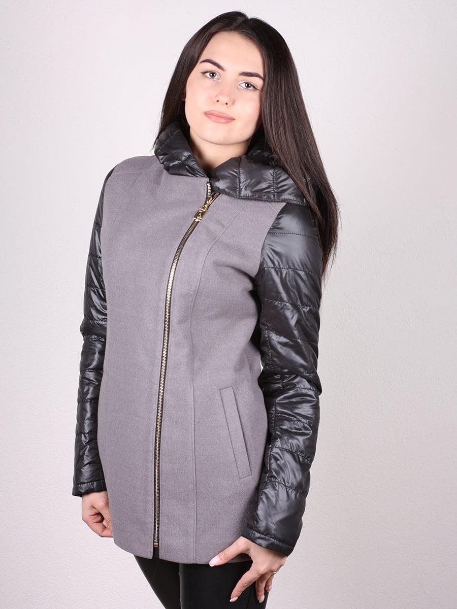 Пальто серо-черное | 4977692 | фото 2