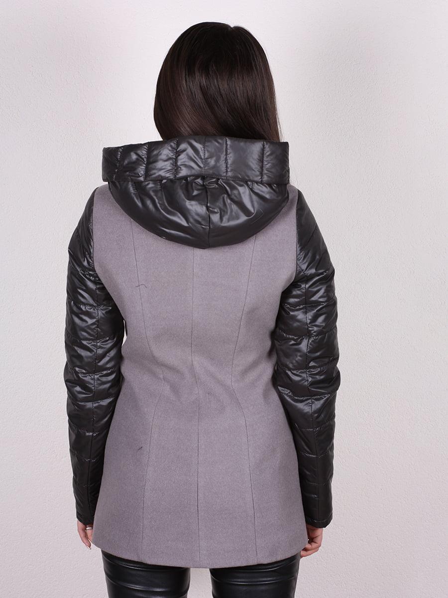 Пальто серо-черное | 4977692 | фото 3