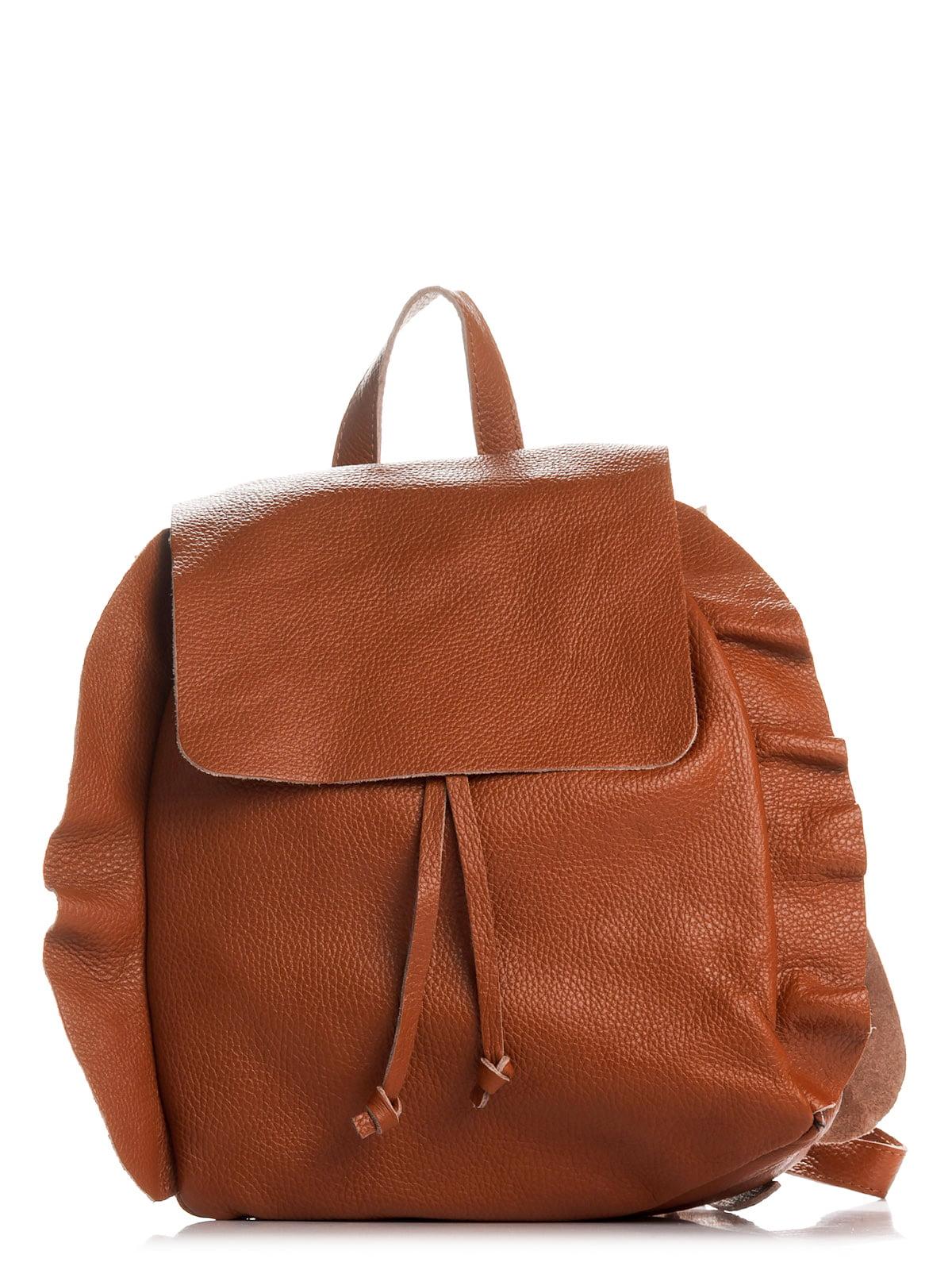 Рюкзак коньячного кольору | 4757175