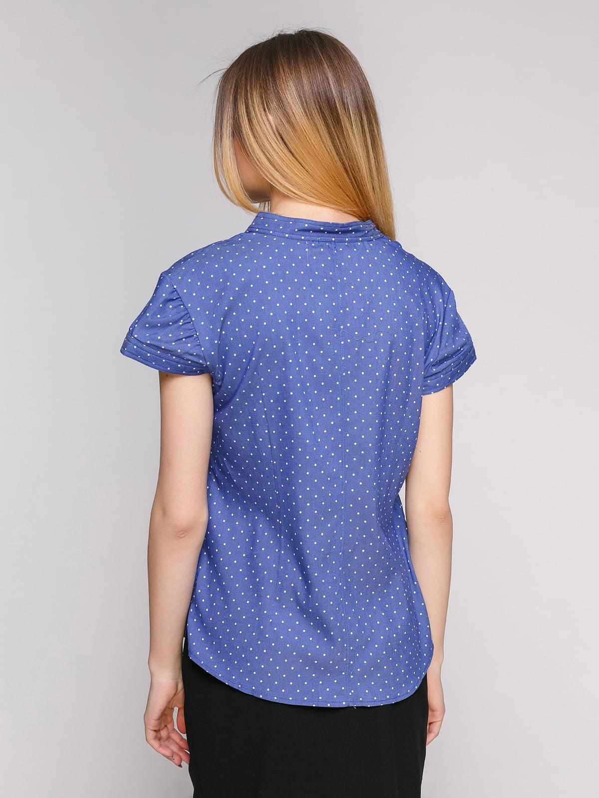 Рубашка синяя в горошек | 4959230 | фото 2