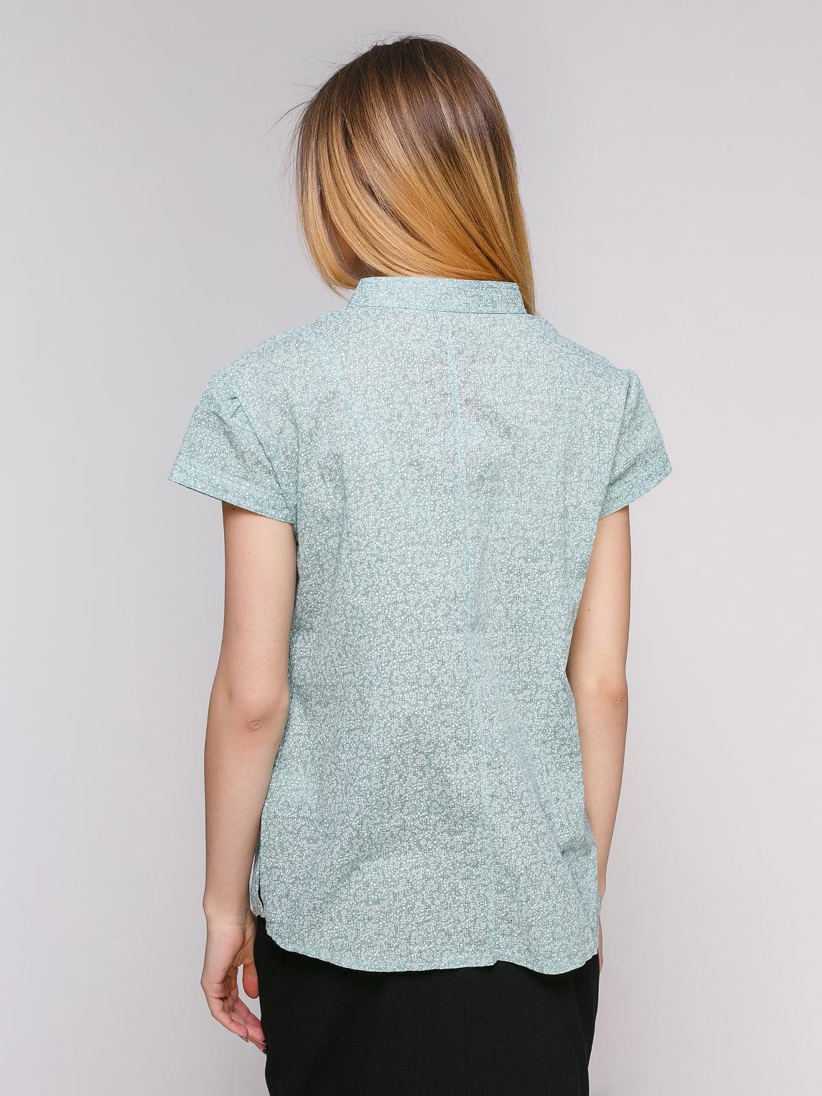 Рубашка ментолового цвета в цветочный принт   4695415   фото 2