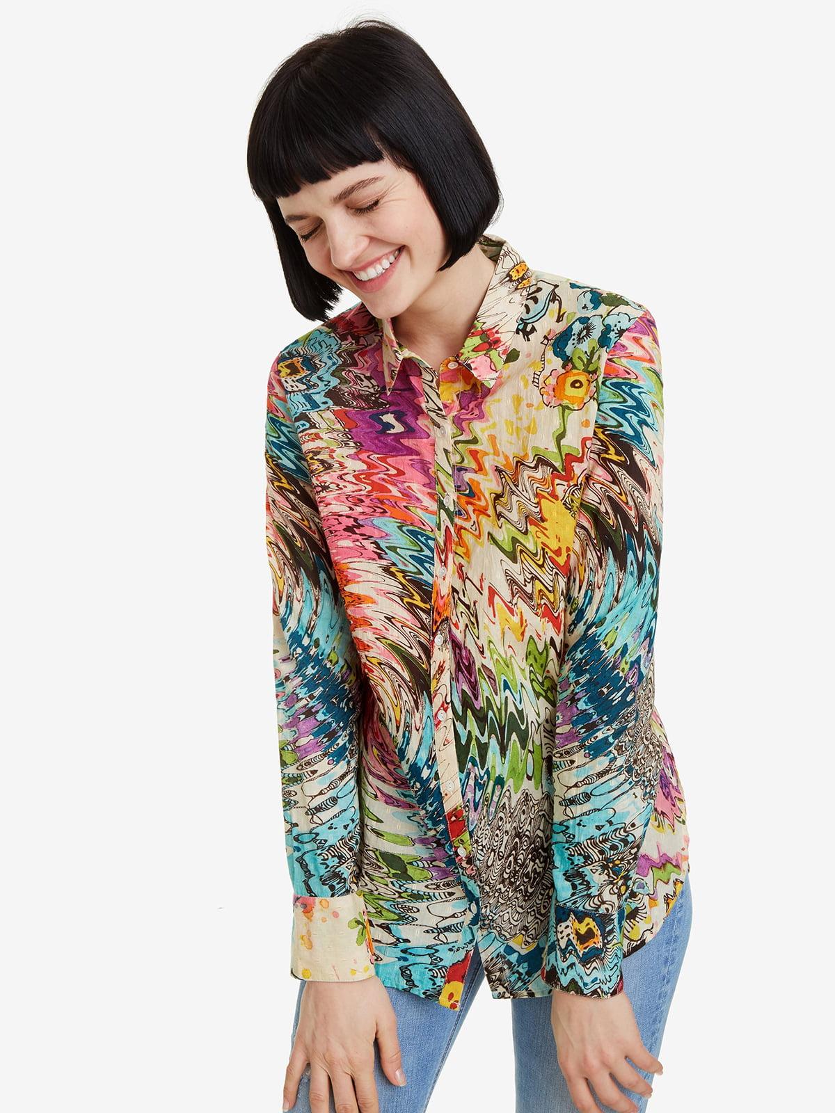 Рубашка в принт | 4983092