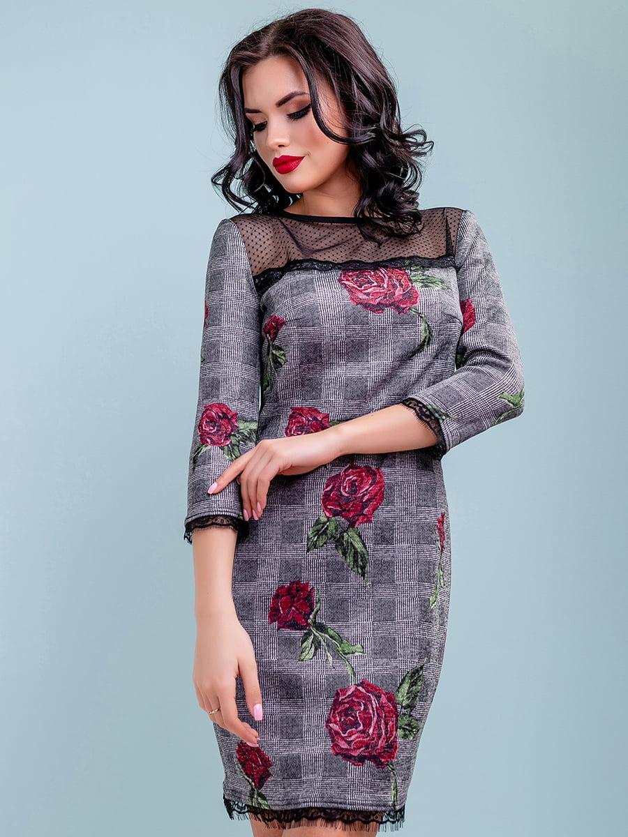 Сукня в квітковий принт | 4983731