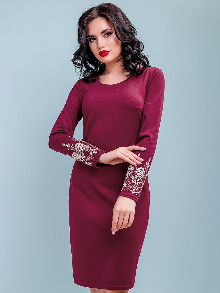 Платье цвета марсала | 4983744