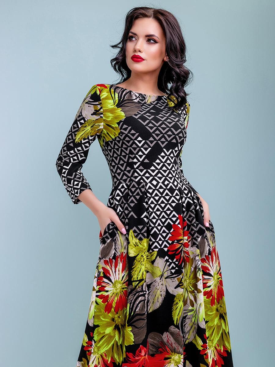 Платье в цветочный принт   4983745