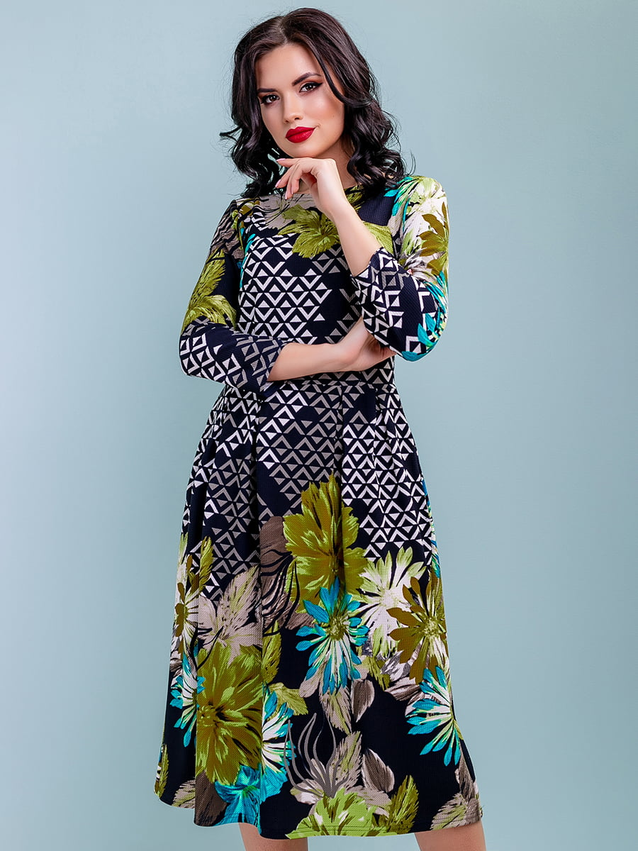Платье в цветочный принт | 4983746