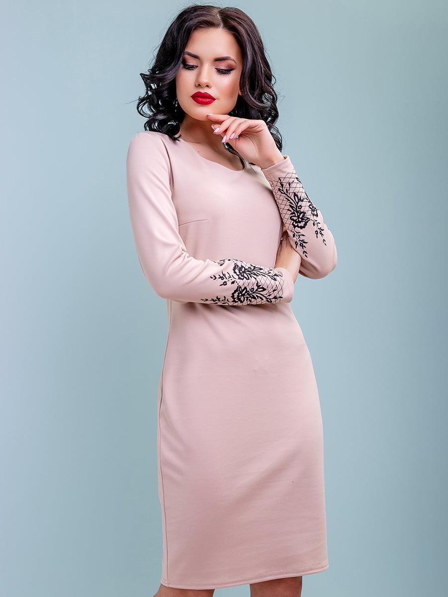 Платье бежевое | 4983754