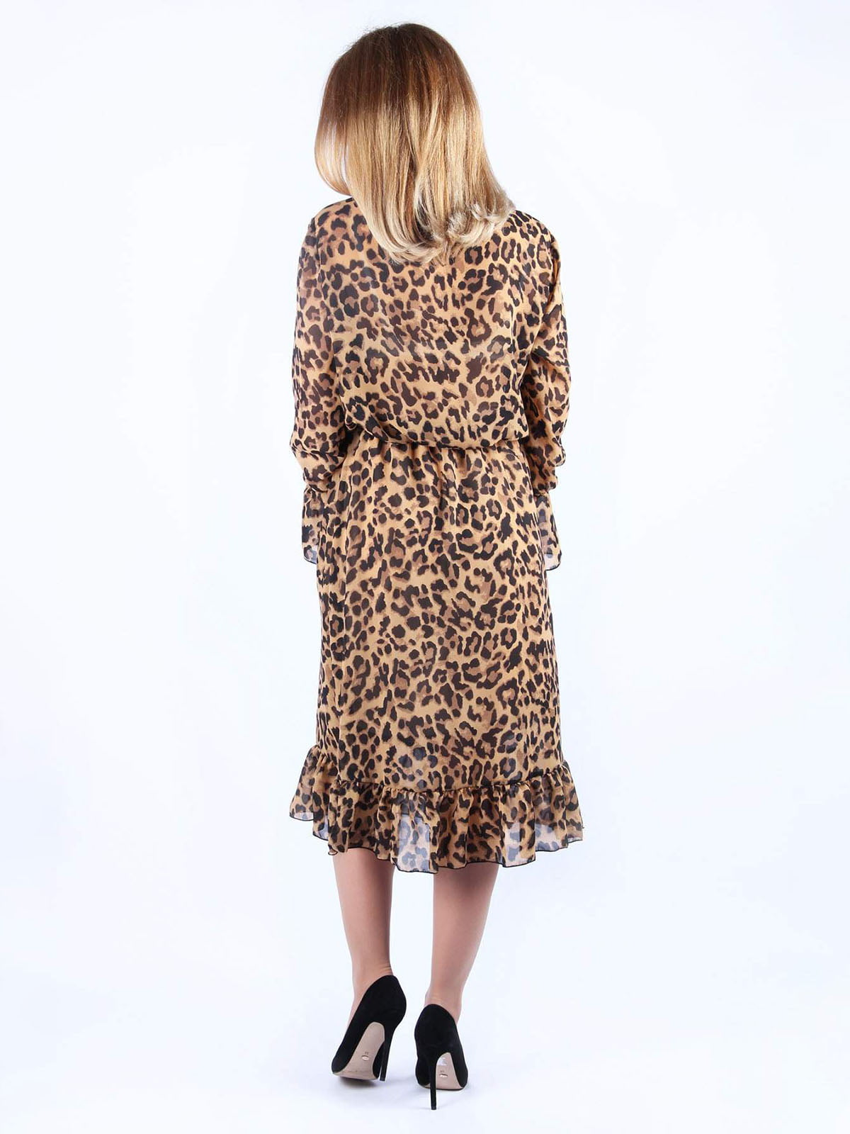 Платье в анималистичный принт | 4984049 | фото 2