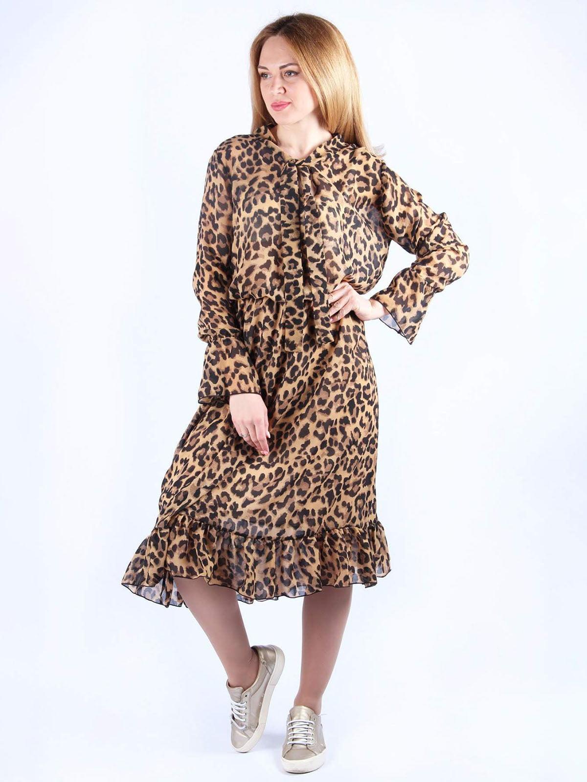 Платье в анималистичный принт | 4984049 | фото 5