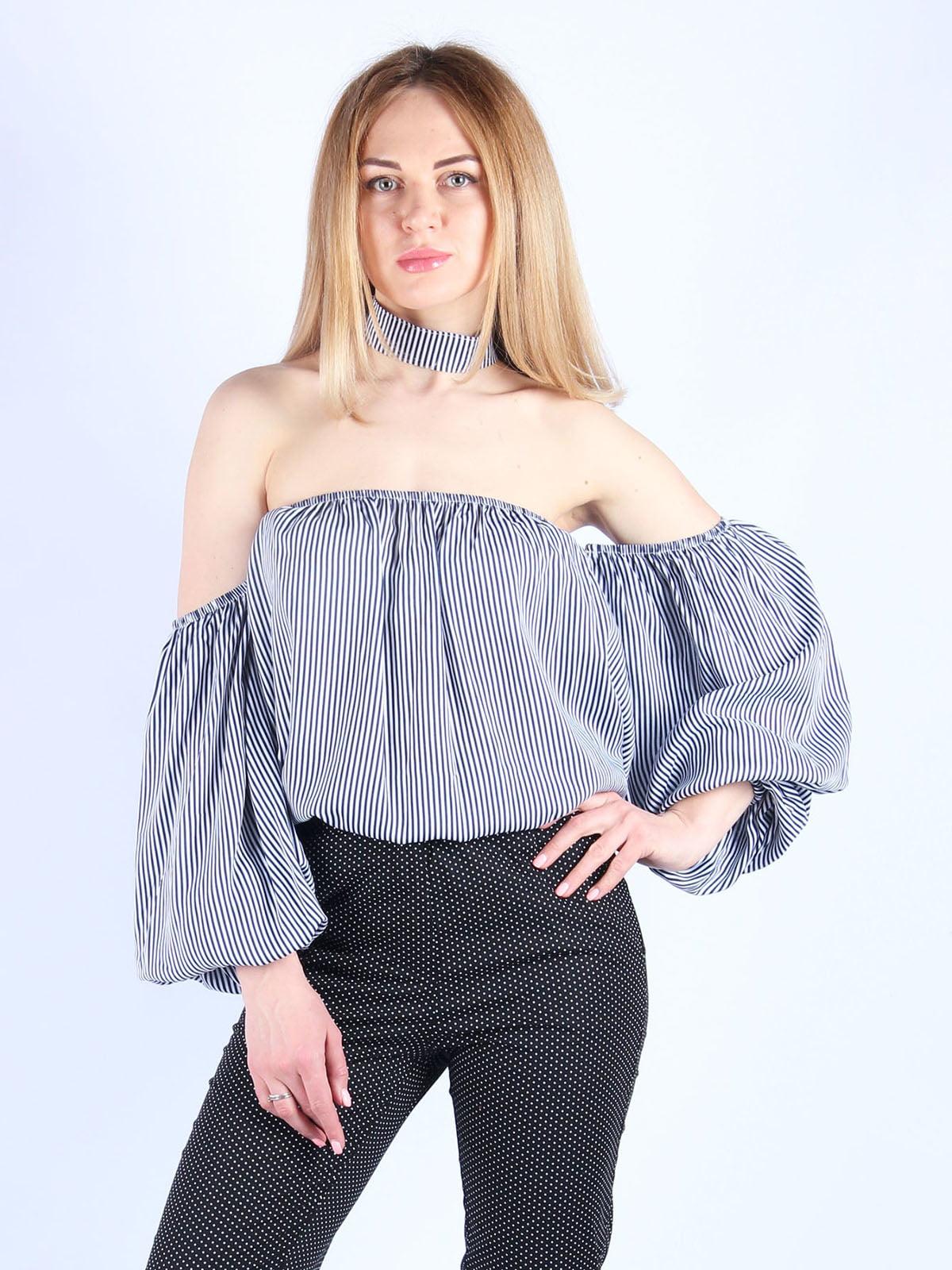 Блуза в смужку | 4984050 | фото 4