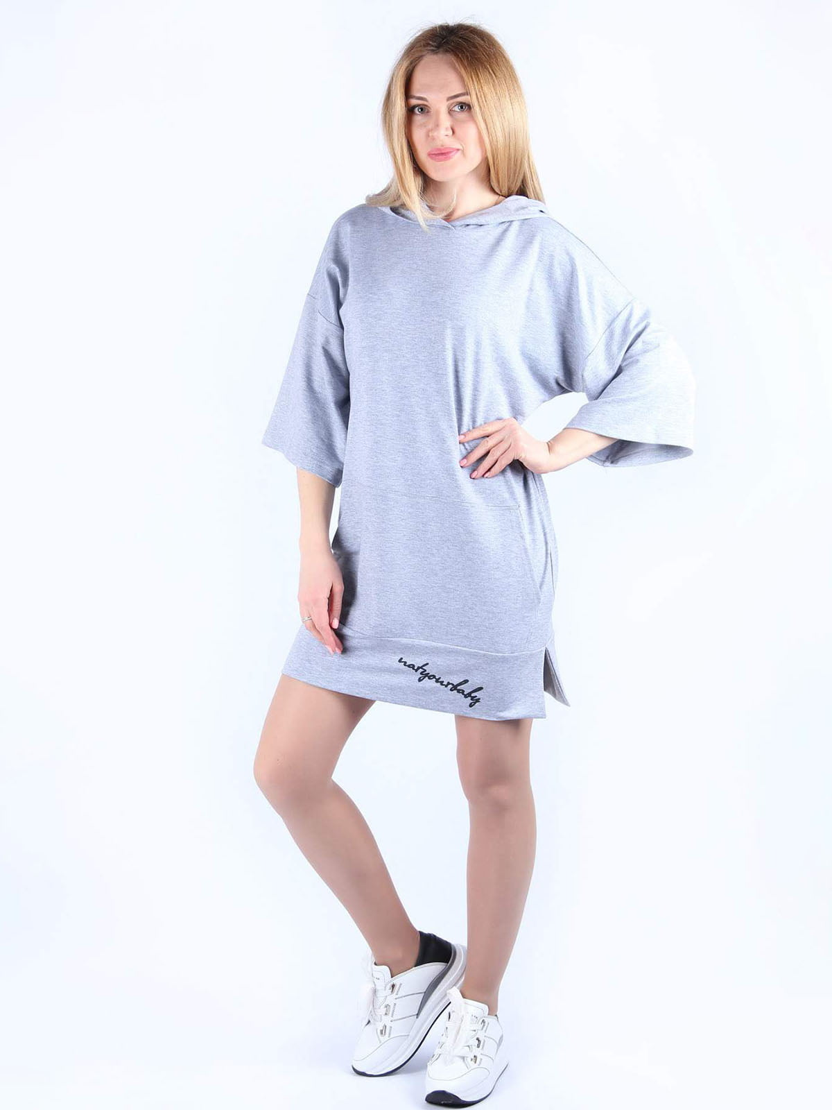 Сукня сіра з принтом   4984054