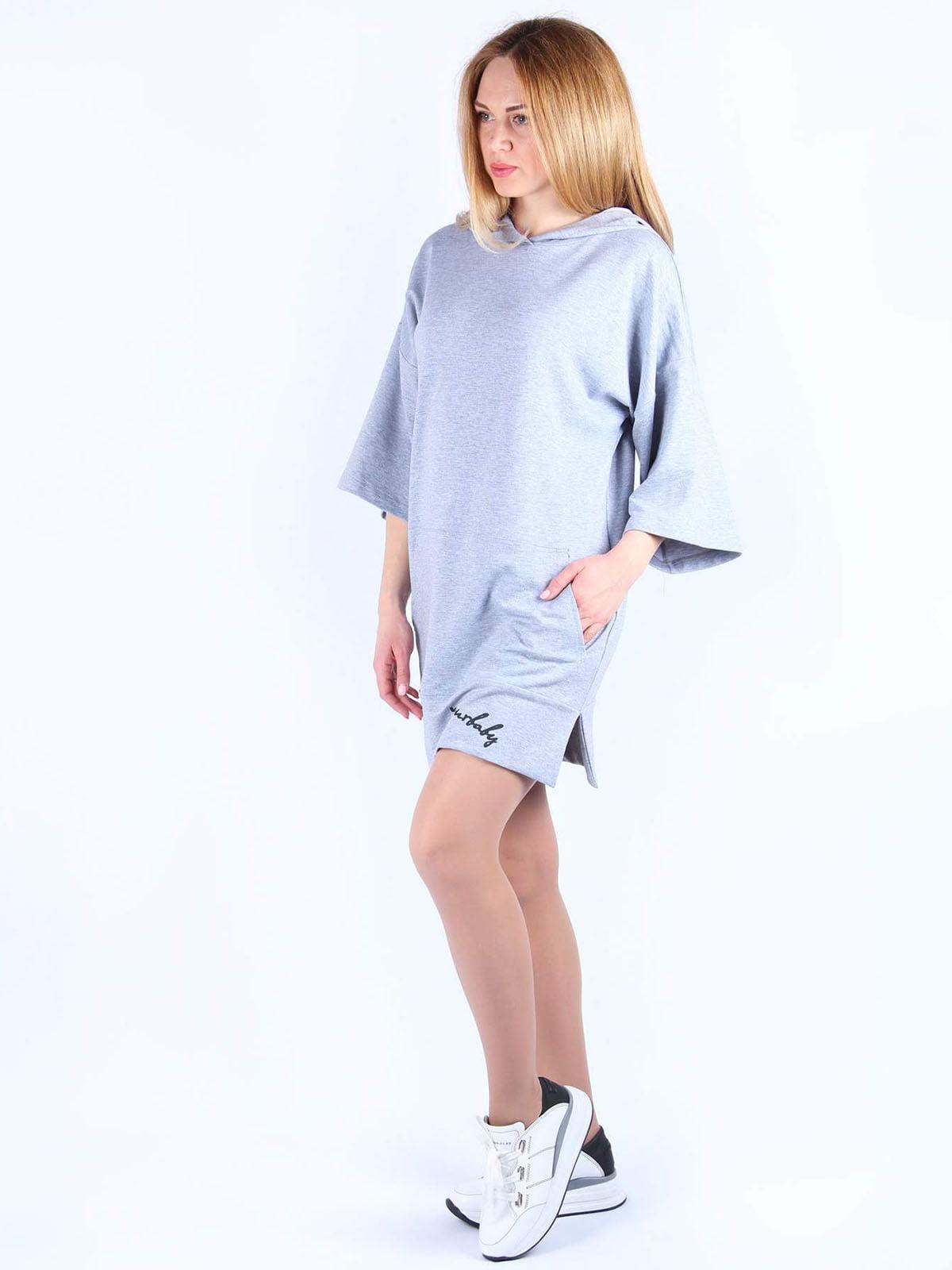 Сукня сіра з принтом   4984054   фото 3