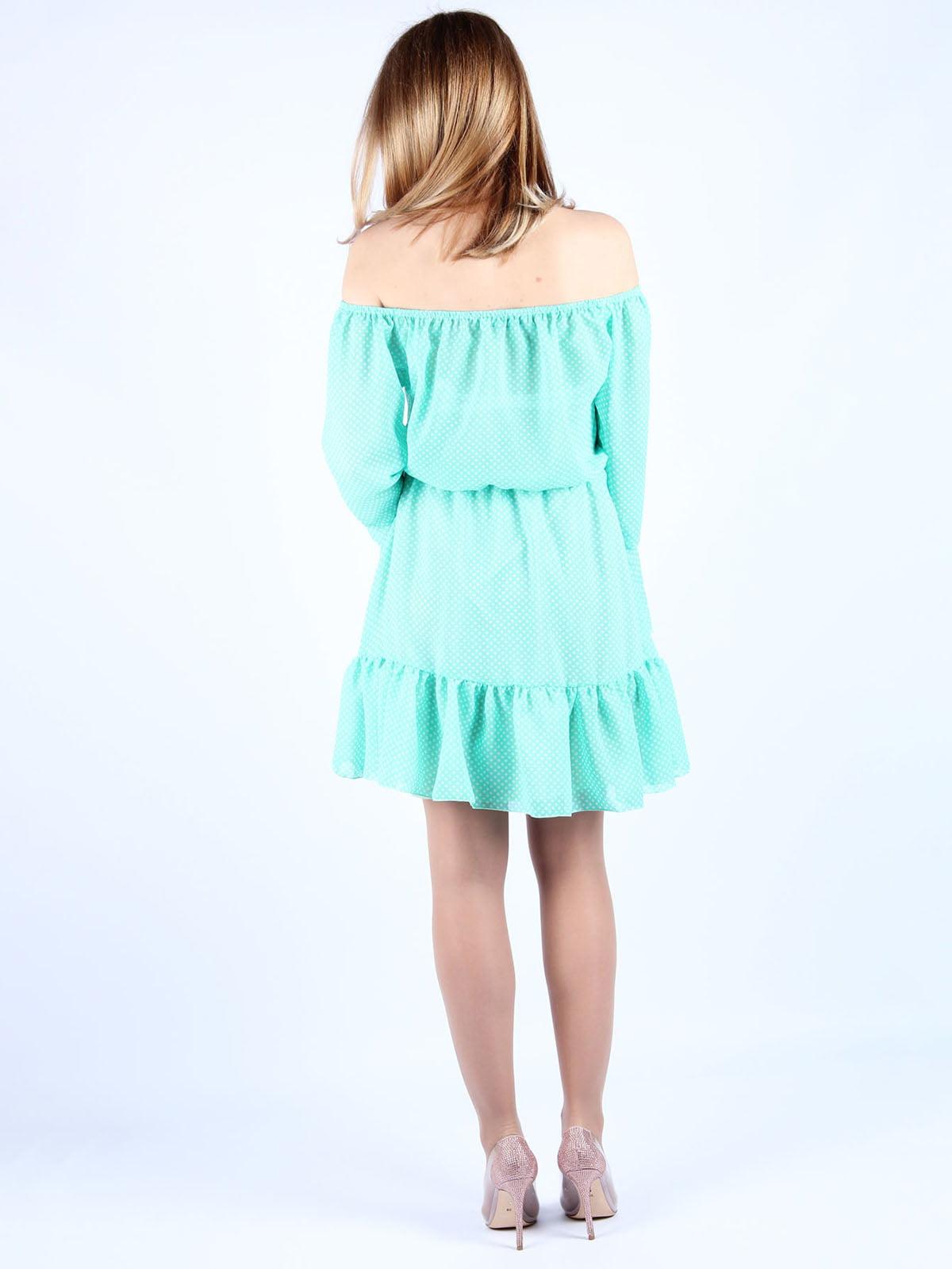 Платье мятного цвета в горошек | 4984057 | фото 2