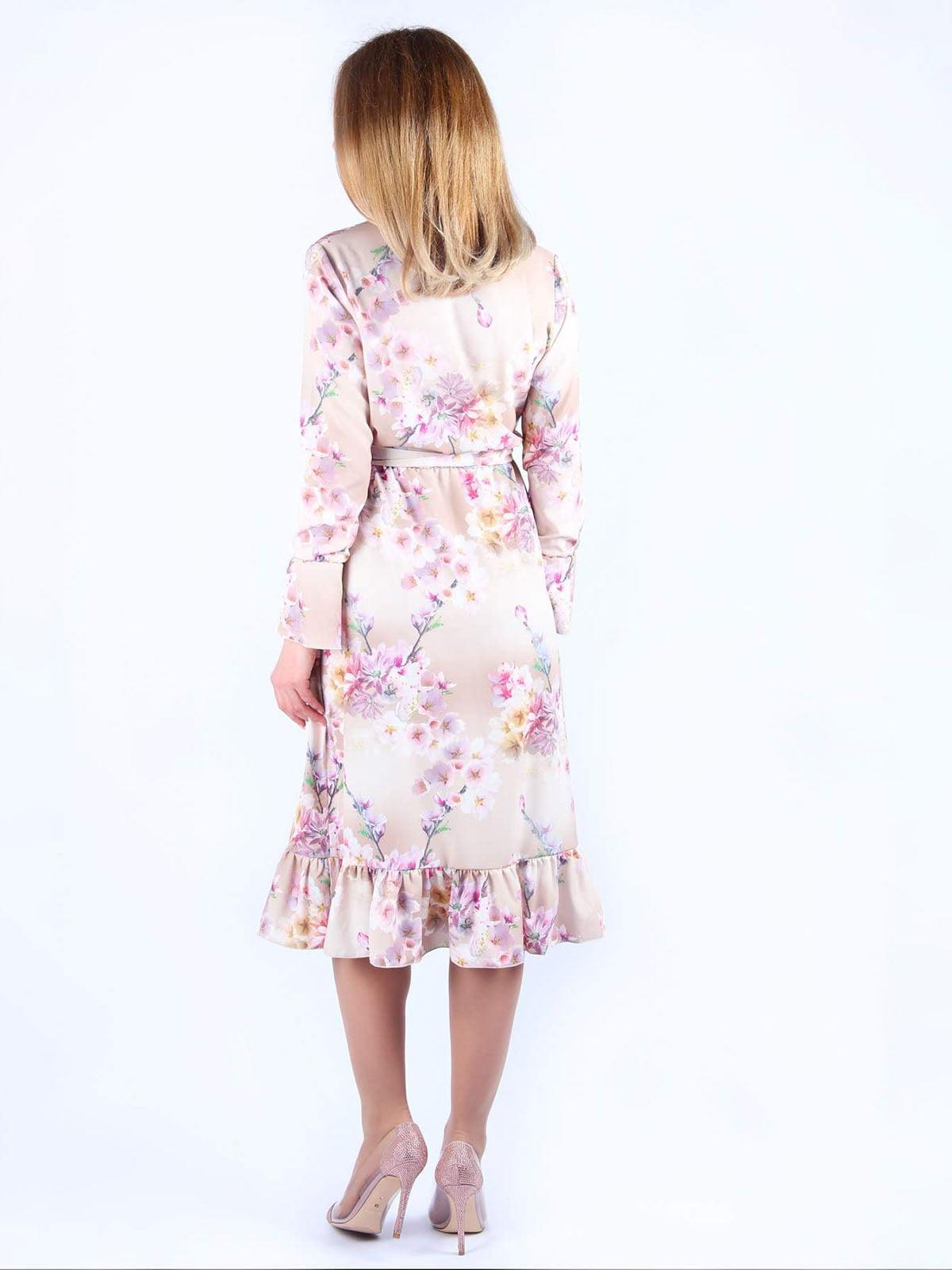 Платье розовое в цветочный принт | 4984070 | фото 2