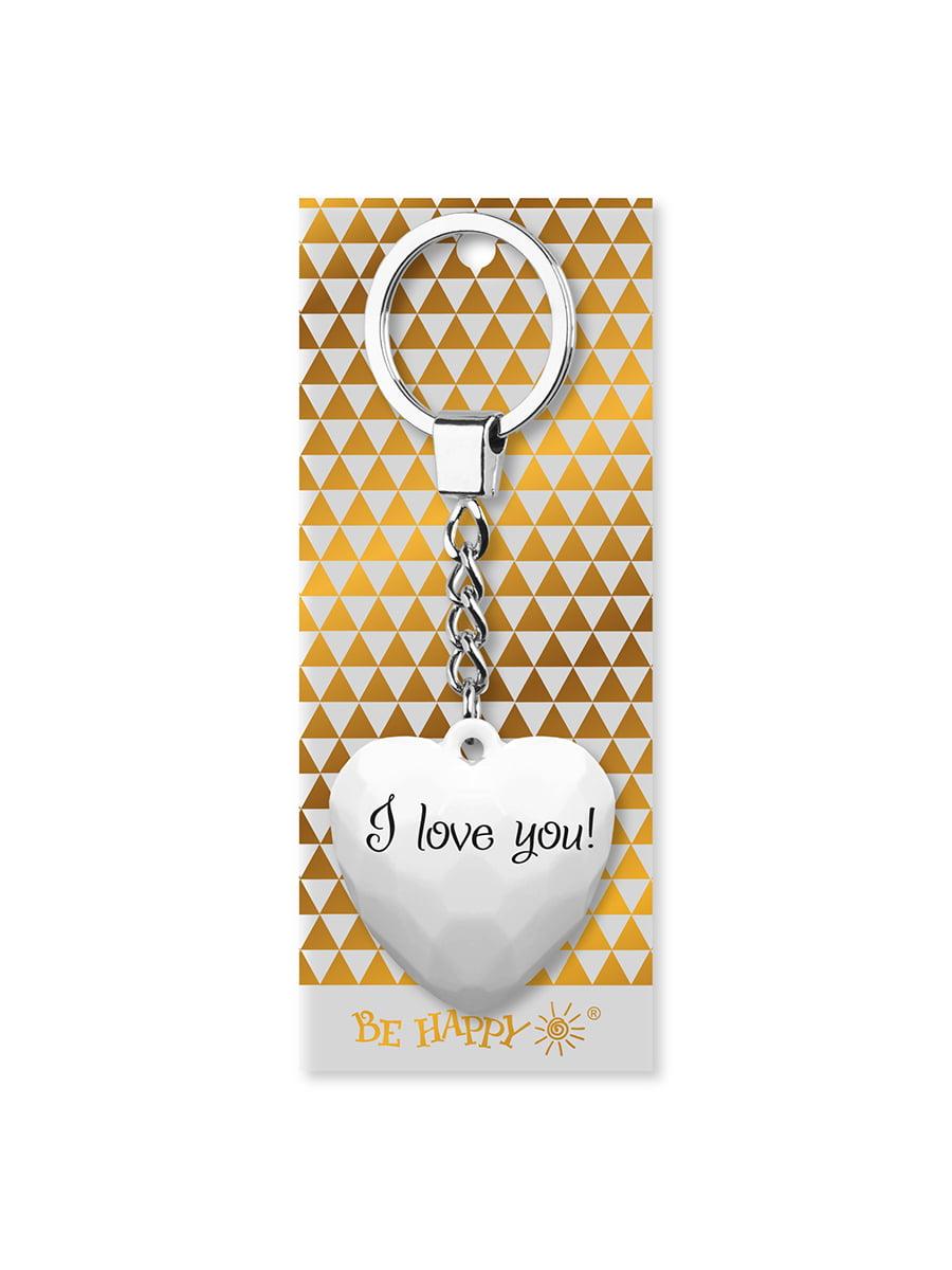 Брелок-сердце с надписью I love you | 4984736