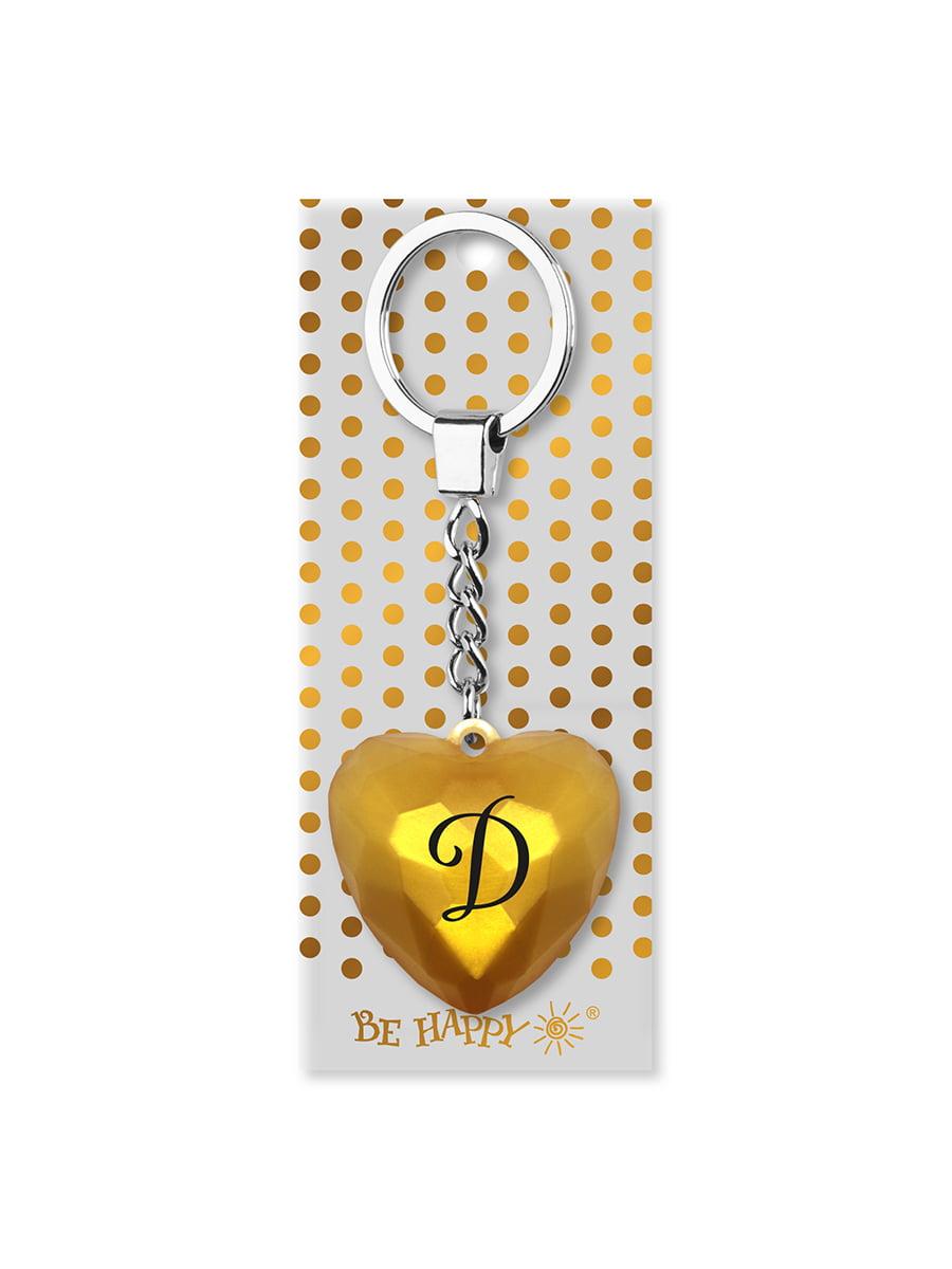 Брелок-сердце с надписью «Д» | 4984761