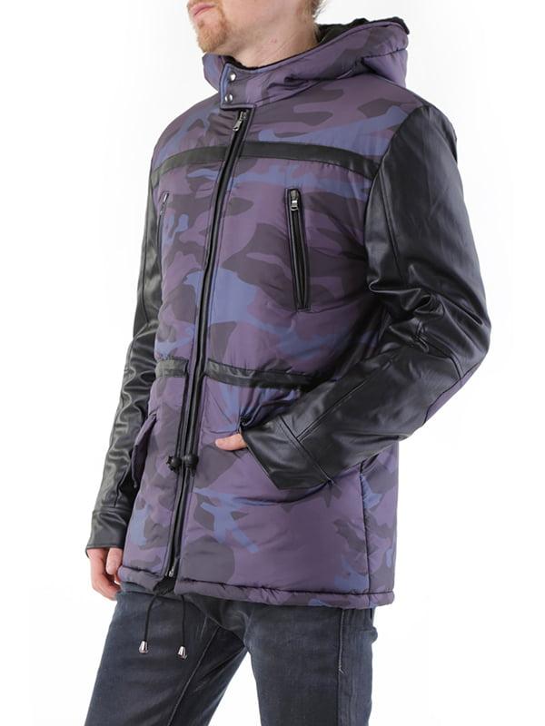 Куртка серая с принтом | 2962179 | фото 8