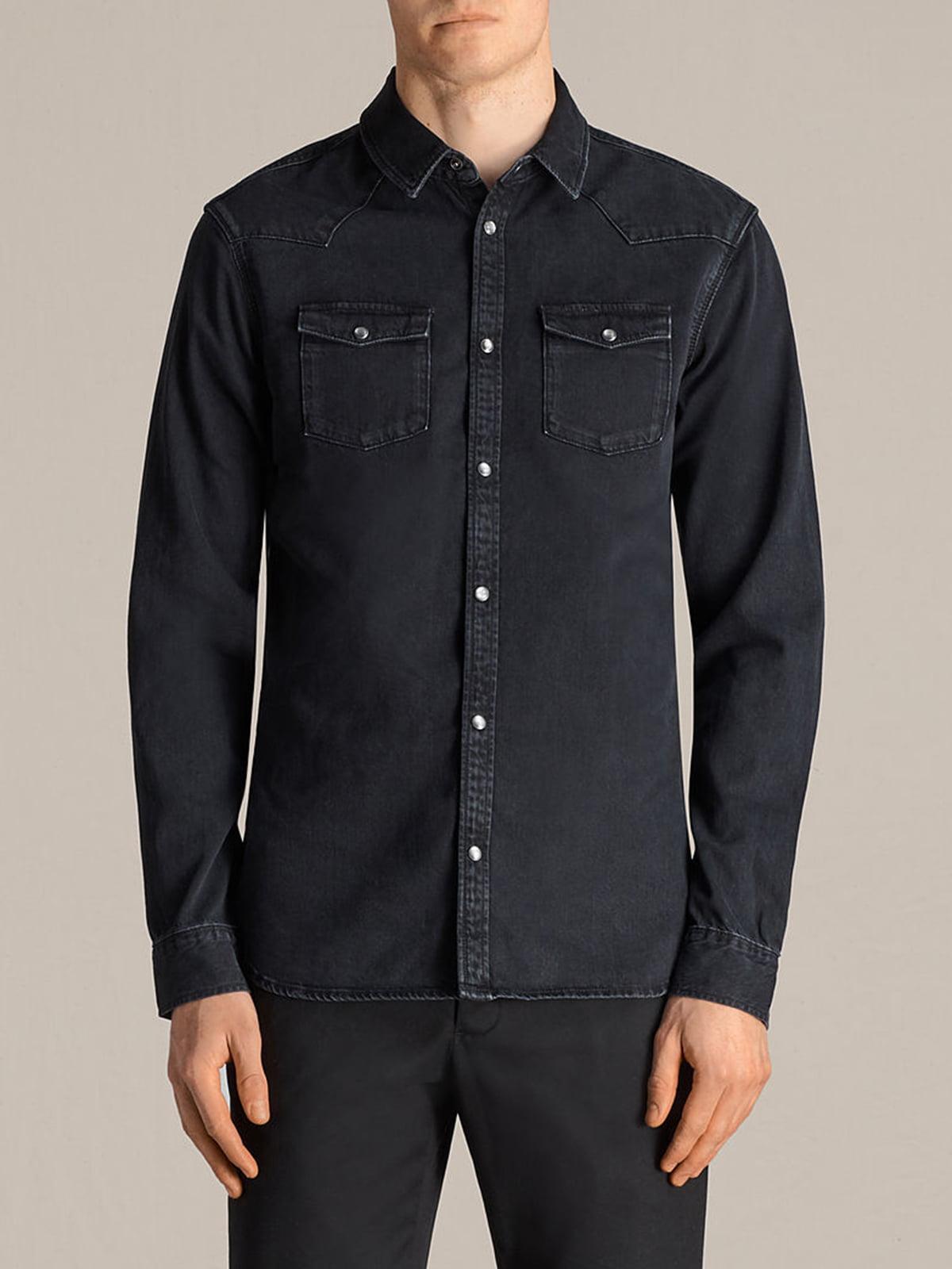 Рубашка черная | 5010806