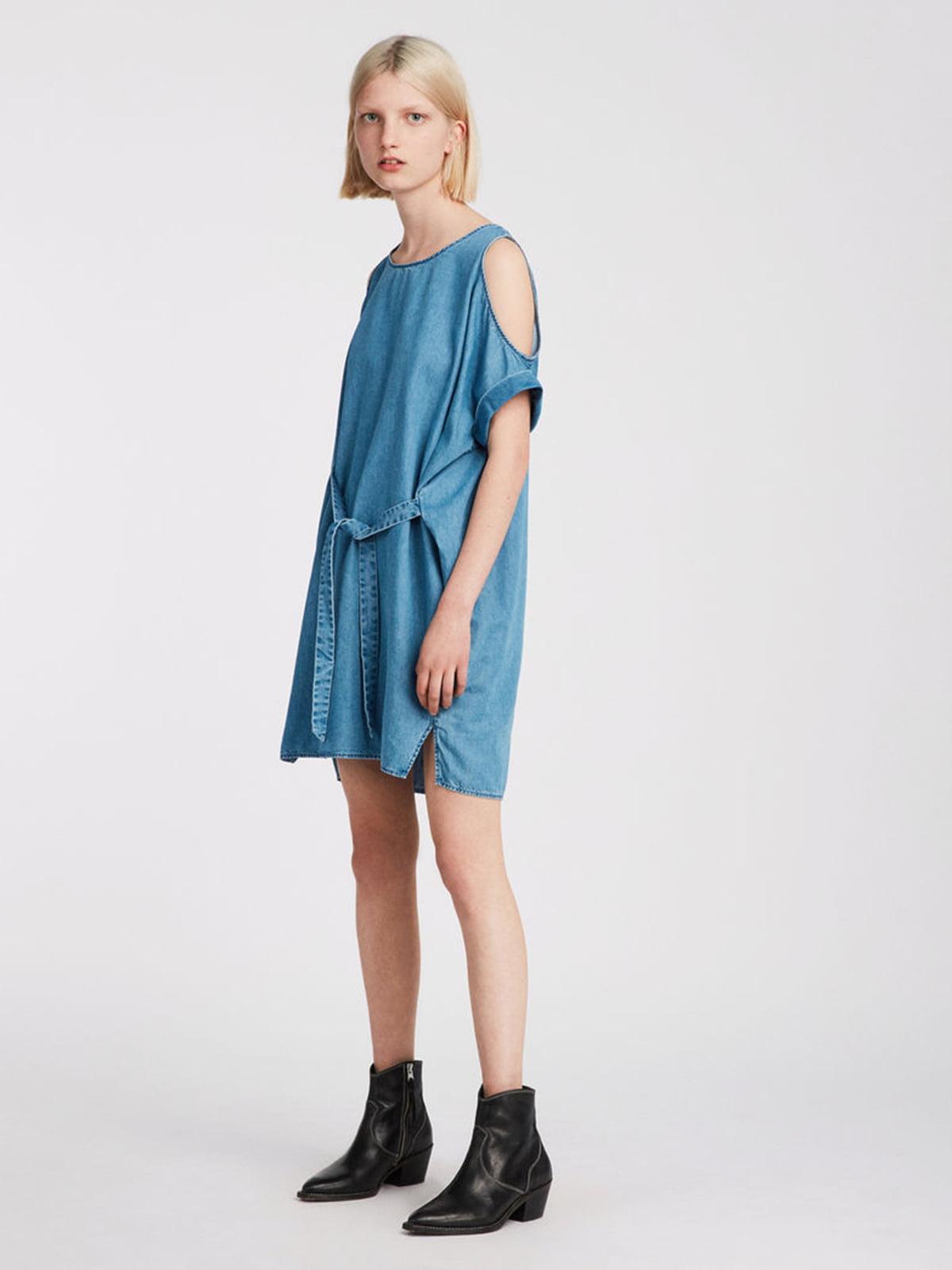 Платье голубое джинсовое   5010868