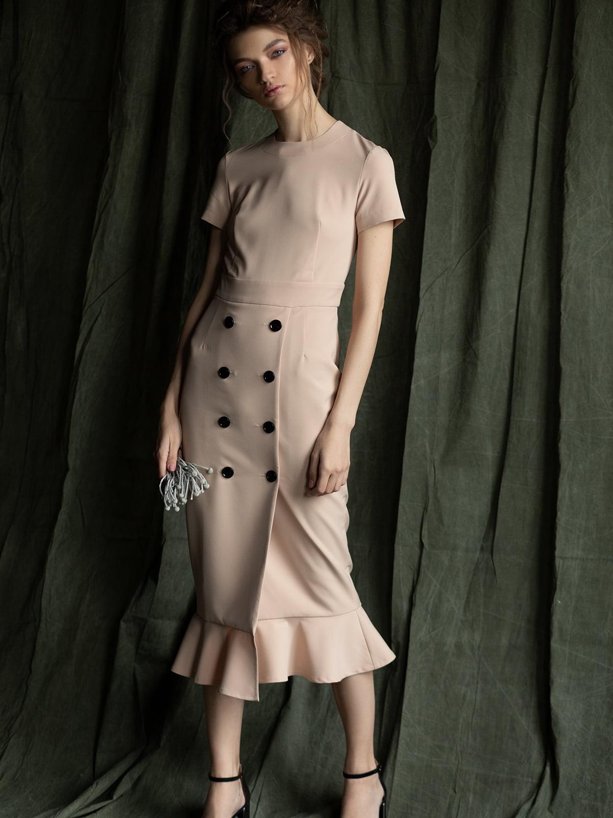 Платье бежевое | 5014478