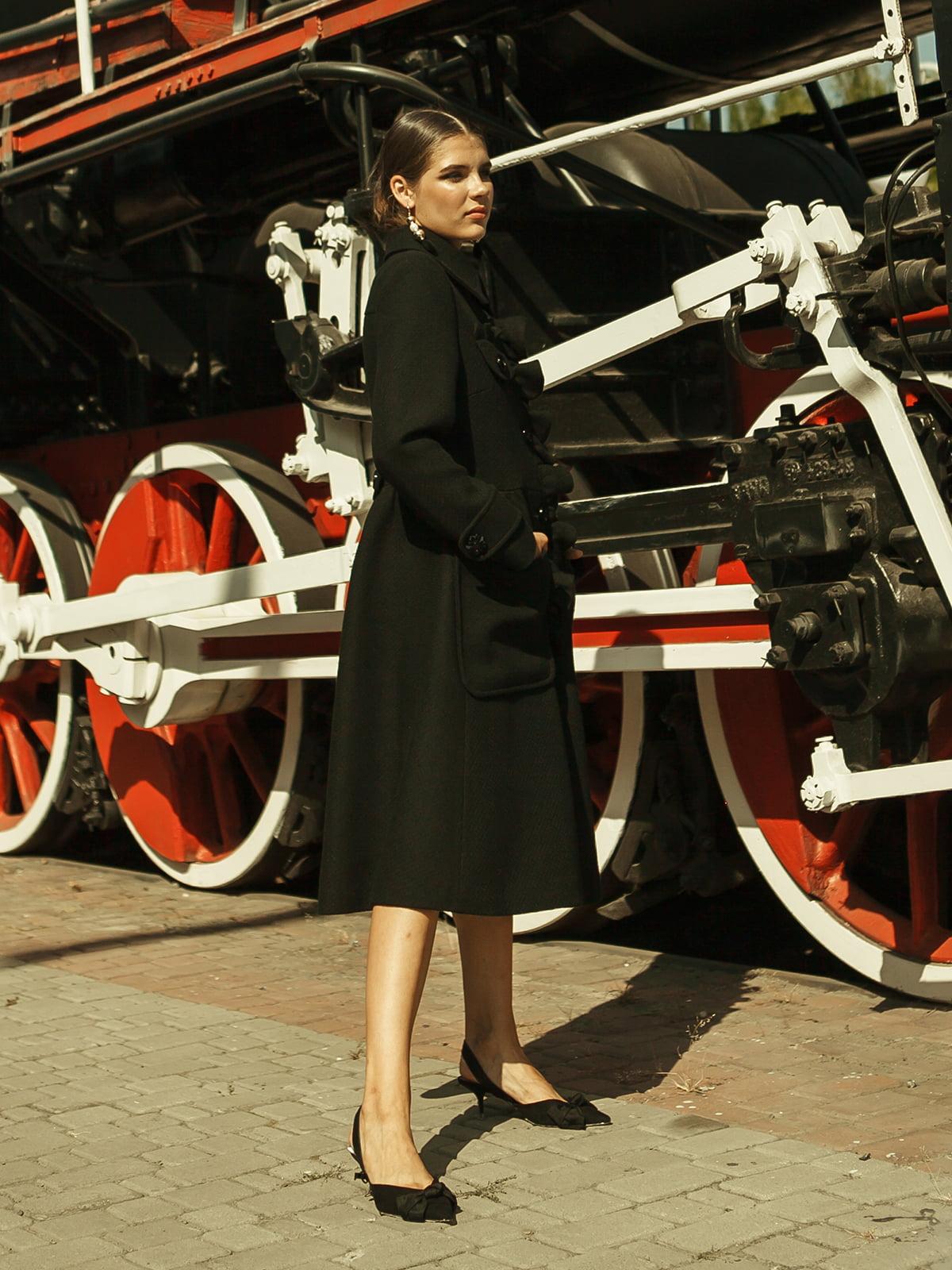 Пальто черное   5014487