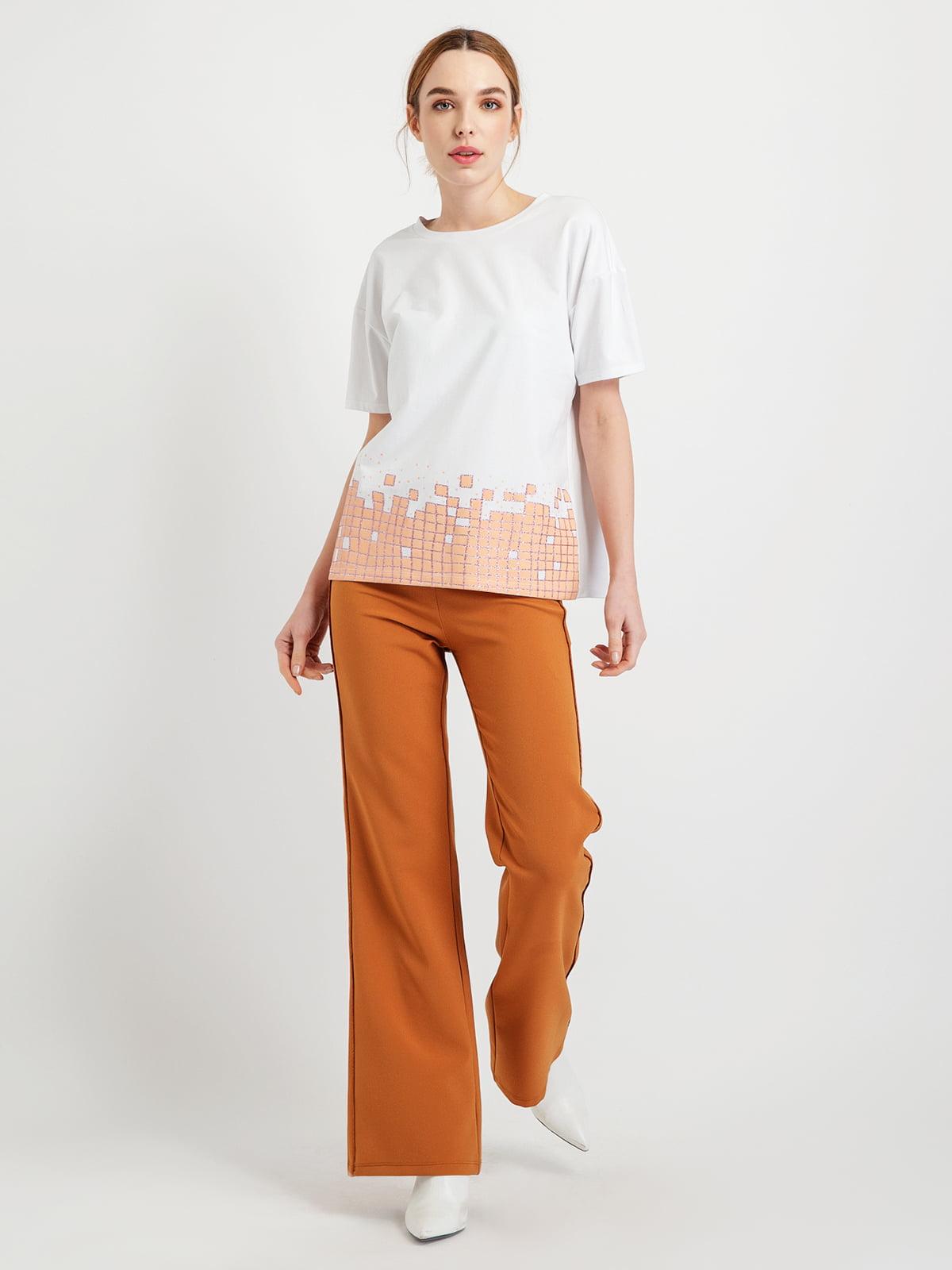 Блуза біло-тілесного кольору | 5015041