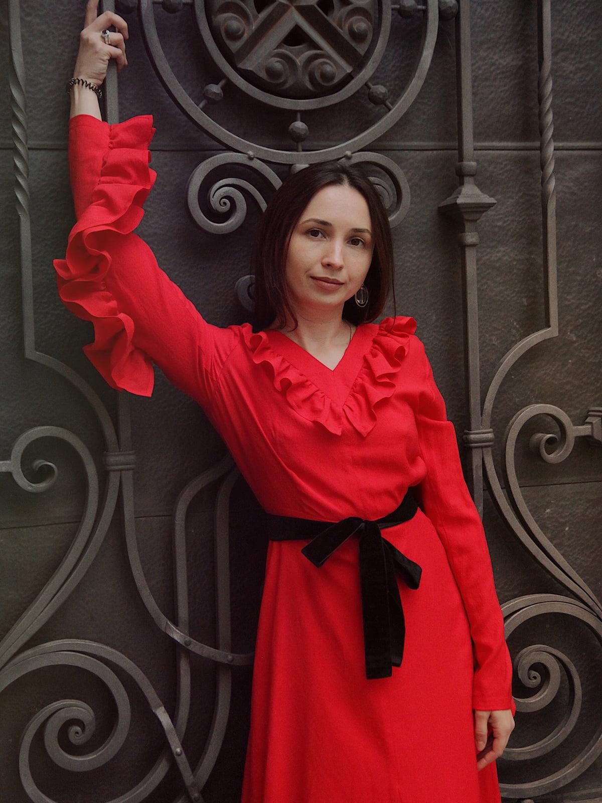 Платье красное | 5014534