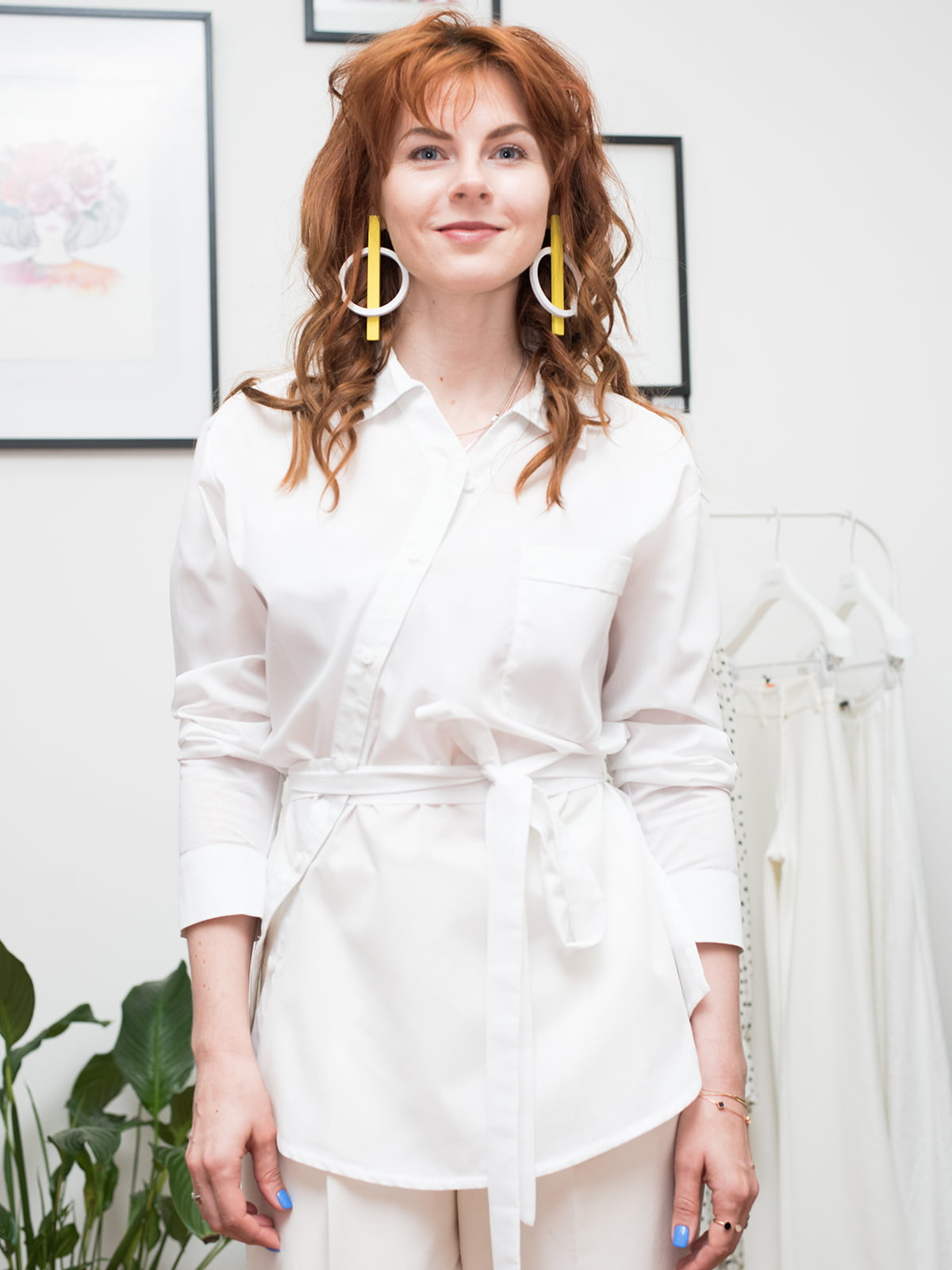 Рубашка белая | 5014781