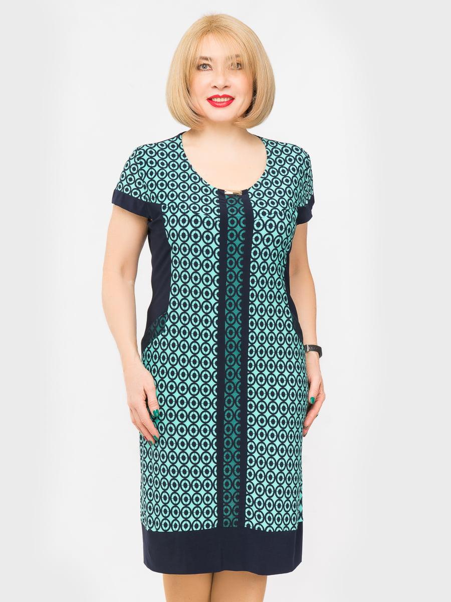 Платье двухцветное с принтом   5027227