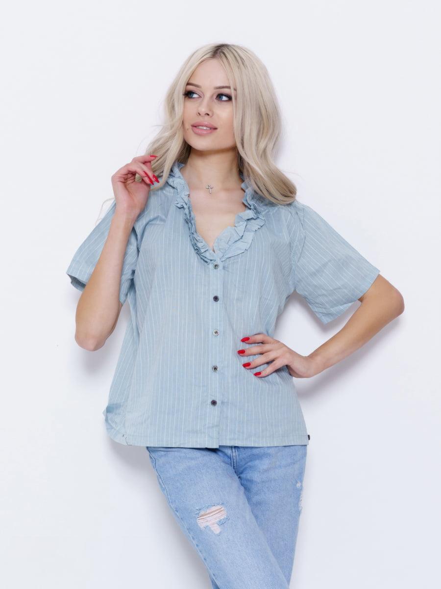 Блуза бирюзовая | 5029534