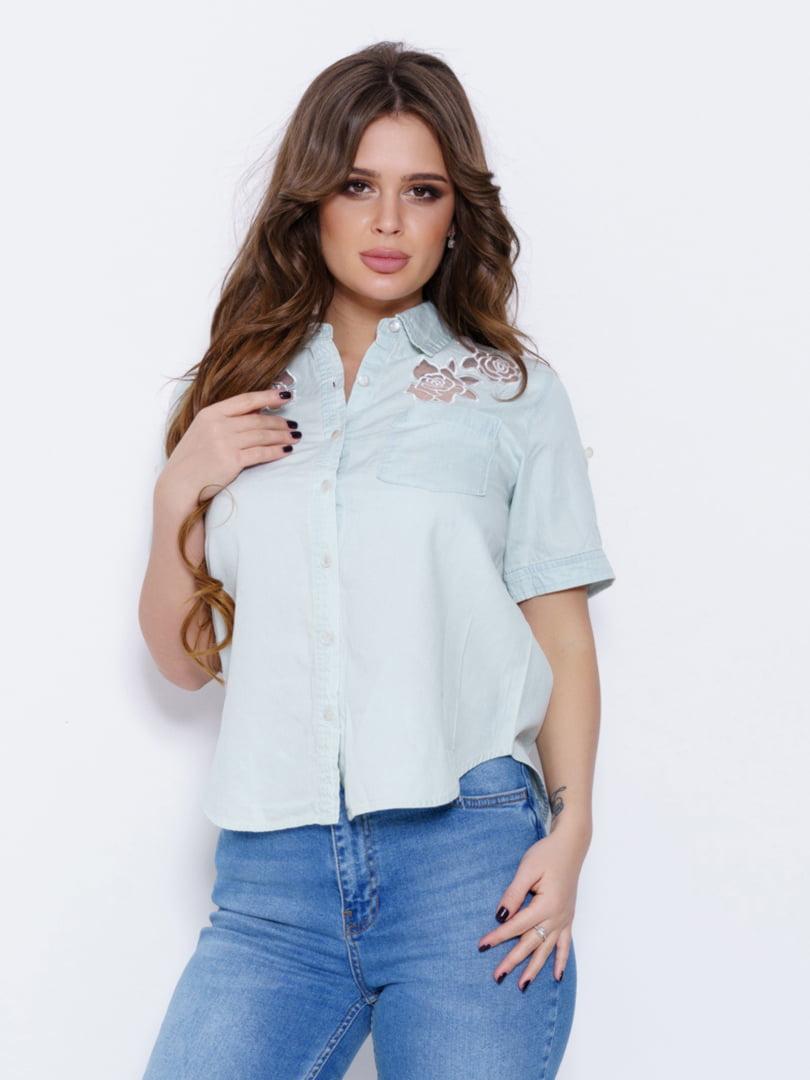 Рубашка голубая | 5029568