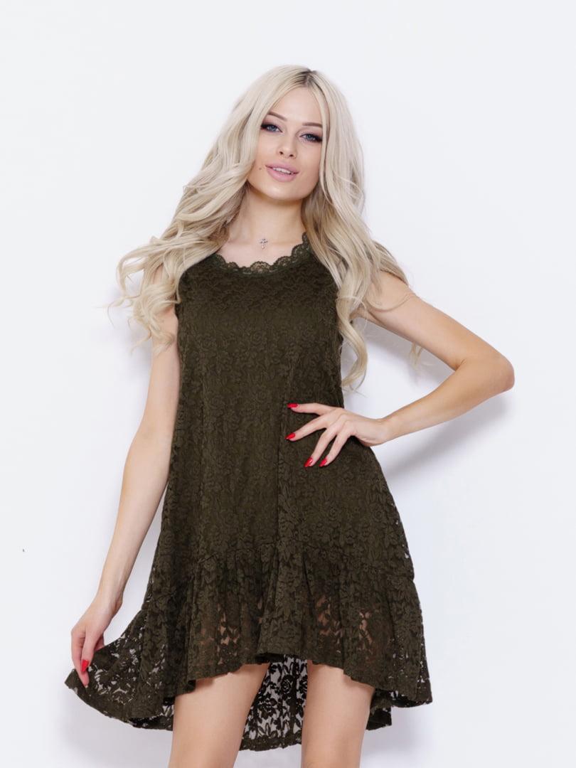 Платье цвета хаки | 5029570