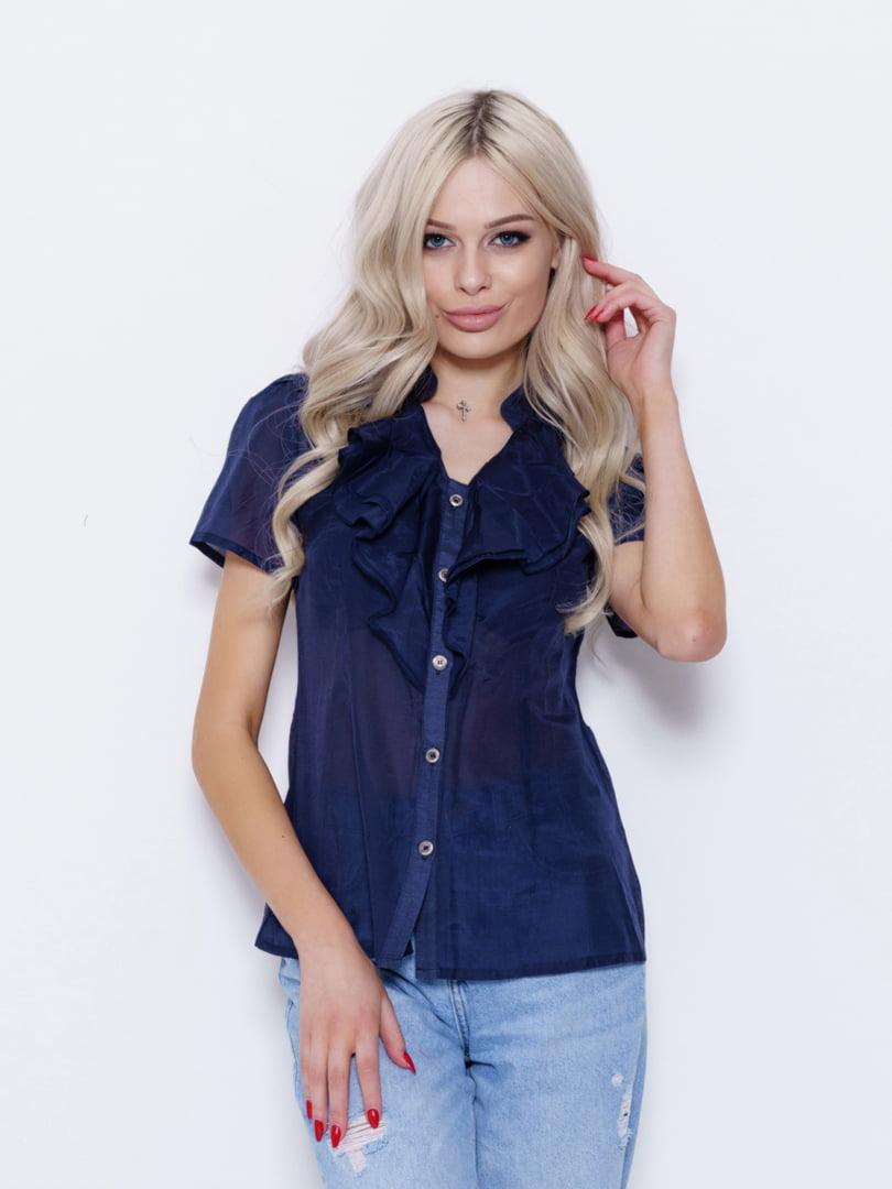 Блуза темно-синяя   5029664