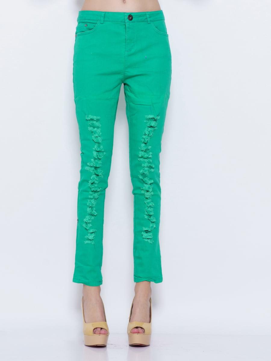 Джинсы зеленые | 5029841