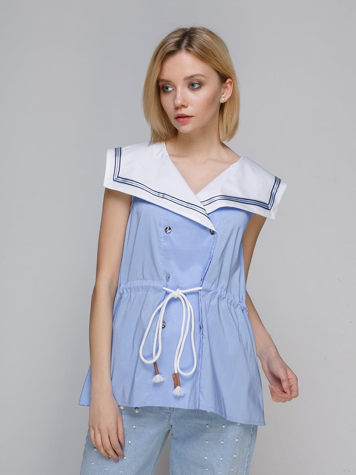 Блуза блакитна | 4951663